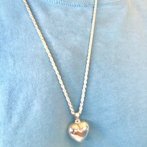 Jewelry - Silver Heart Pendant Necklace with Chain